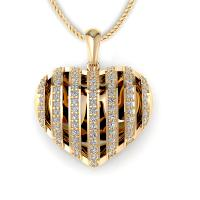 0.45CT round  cut diamonds heart pendants