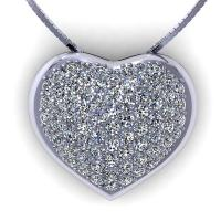 0.70CT round  cut diamonds heart pendants