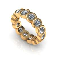 1.50CT round  cut diamonds eternity ring