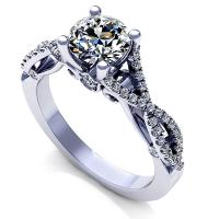 0.90CT round  cut diamonds engagement ring