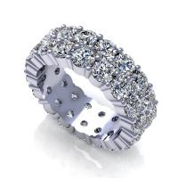3.00CT round  cut diamonds eternity ring