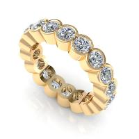 2.00CT round  cut diamonds eternity ring