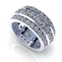 4.00CT round  cut diamonds eternity ring
