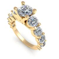 3.05CT round  cut diamonds engagement ring