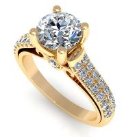 1.21CT round  cut diamonds engagement ring