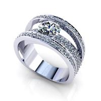 2.80CT round  cut diamonds engagement ring