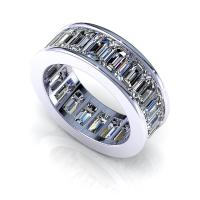 3.00CT emerald  cut diamonds eternity ring