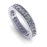 0.50CT round  cut diamonds eternity ring