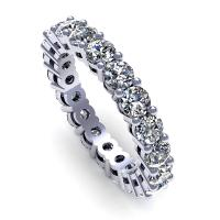 2.50CT round  cut diamonds eternity ring