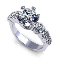 1.60CT round  cut diamonds engagement ring