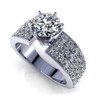 1.90CT round  cut diamonds engagement ring