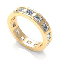 2.50CT emerald  cut diamonds eternity ring
