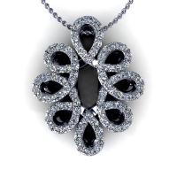 0.35CT round  cut diamonds diamond pendants