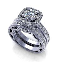 1.65CT round  cut diamonds bridal set