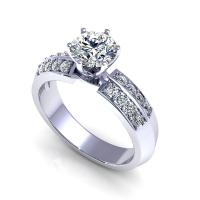 0.70CT round  cut diamonds engagement ring