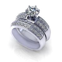 1.15CT round  cut diamonds bridal set