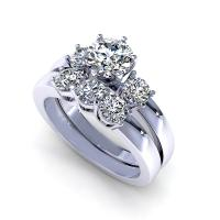 1.35CT round  cut diamonds bridal set