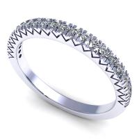 0.25CT round  cut diamonds wedding band