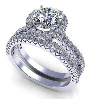 1.25CT round  cut diamonds bridal set