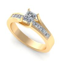 0.80CT princess  cut diamonds engagement ring