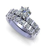 1.45CT round  cut diamonds bridal set