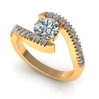 0.65CT round  cut diamonds engagement ring