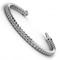 2.00CT round  cut diamonds tennis bracelets