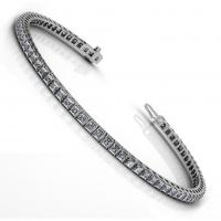 11.00CT princess  cut diamonds tennis bracelets