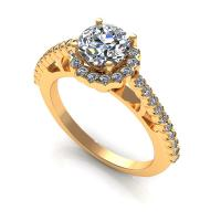 0.80CT round  cut diamonds engagement ring