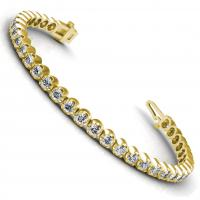 1.00CT round  cut diamonds tennis bracelets