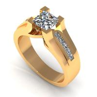 0.70CT princess  cut diamonds engagement ring