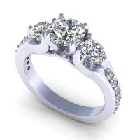 1.40CT round  cut diamonds engagement ring