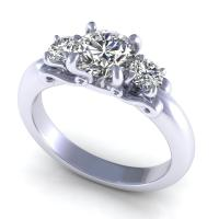 0.75CT round  cut diamonds three stone ring