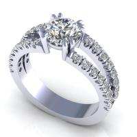 1.05CT round  cut diamonds engagement ring