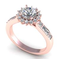 0.92CT round  cut diamonds engagement ring