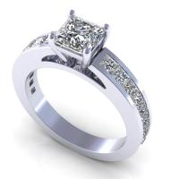 1.60CT princess  cut diamonds engagement ring