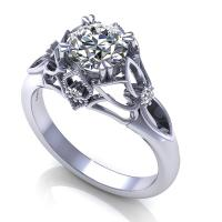 0.42CT round  cut diamonds engagement ring