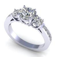 1.10CT round  cut diamonds engagement ring
