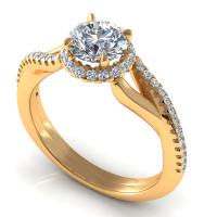 0.60CT  and round  cut diamonds engagement ring