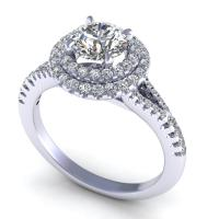 0.84CT round  cut diamonds engagement ring