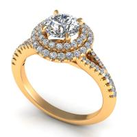 0.84CT  and round  cut diamonds engagement ring