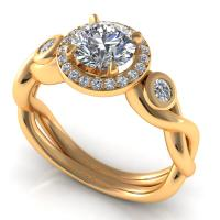0.62CT  and round  cut diamonds engagement ring