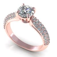 0.85CT round  cut diamonds engagement ring