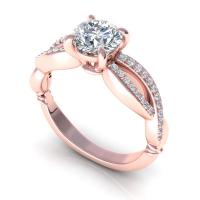 0.55CT round  cut diamonds engagement ring