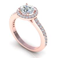 0.75CT round  cut diamonds engagement ring
