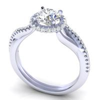 0.60CT round  cut diamonds engagement ring