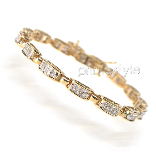 4.50CT Princess Cut Diamonds Tennis Bracelet