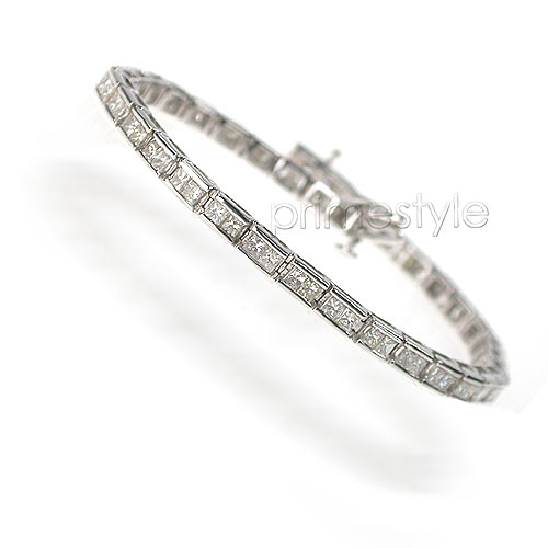 5.00CT Princess Cut Diamonds Tennis Bracelet