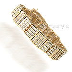 11.20CT Baguette Cut Diamonds Tennis Bracelet