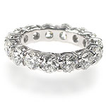 4.50CT Round Cut Diamonds Eternity Ring